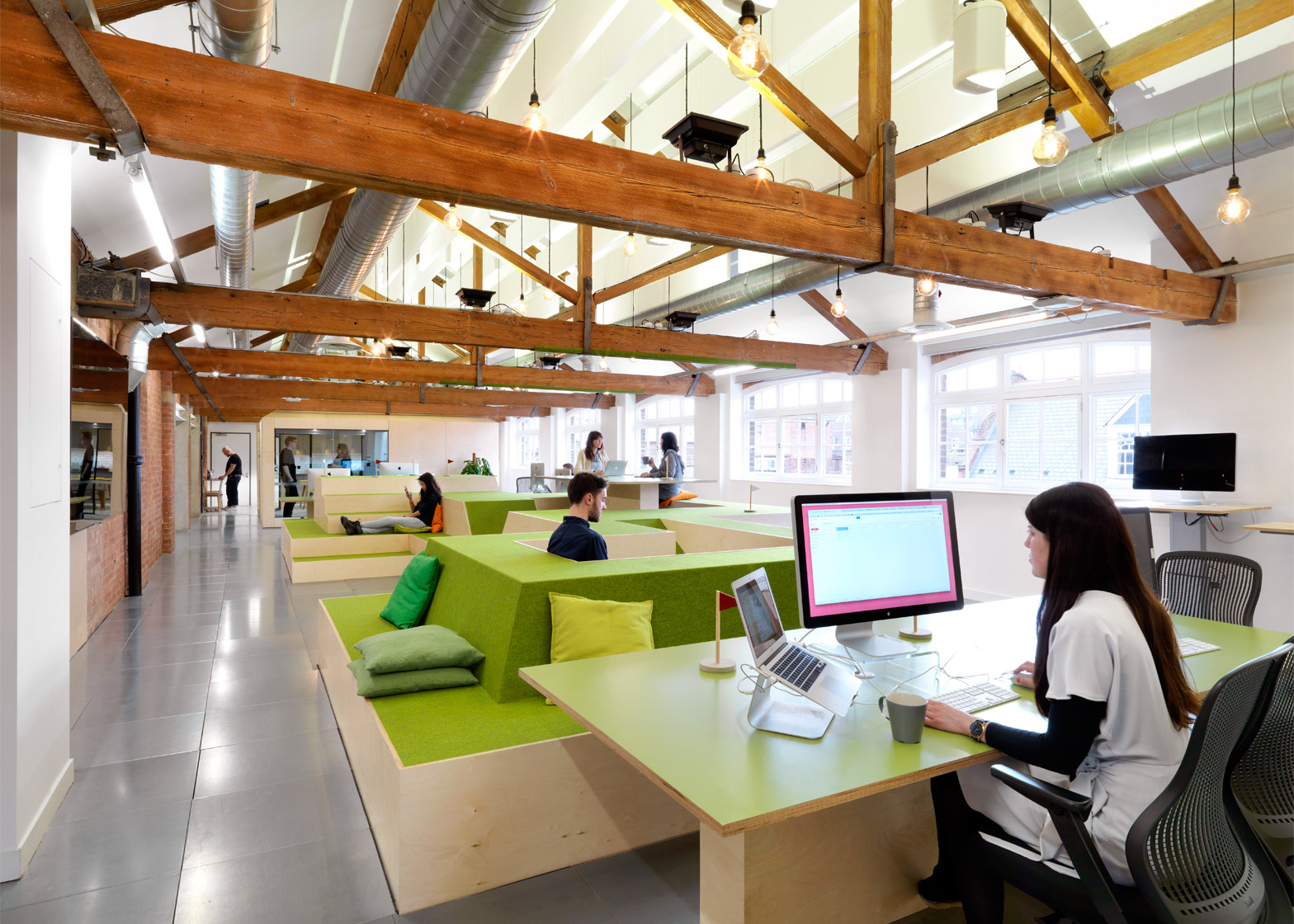 Open plan office design is preventing workers from for Office working area design